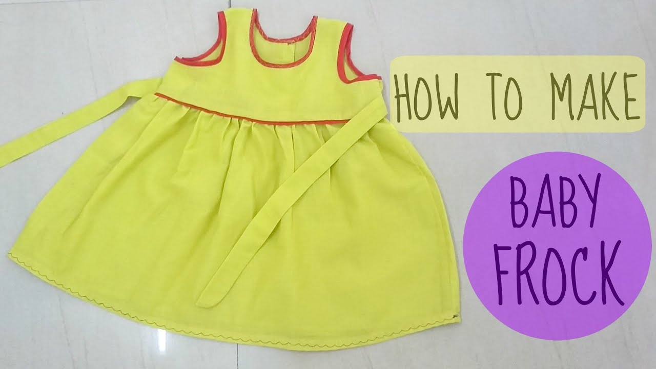 How To Make Baby Frock Measurement Cutting Sewing