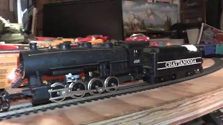 ho chattanooga 0-8-0 runs on track tender drive tyco vide inside