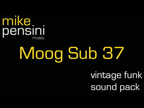 Vintage Funk Sound Pack Demo for Moog Sub37 by Mike Pensini