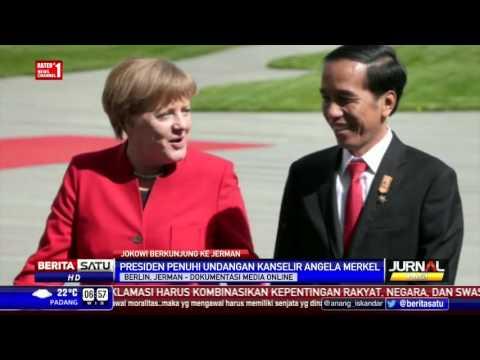 Jerman Sambut Jokowi dengan Lagu Indonesia Raya