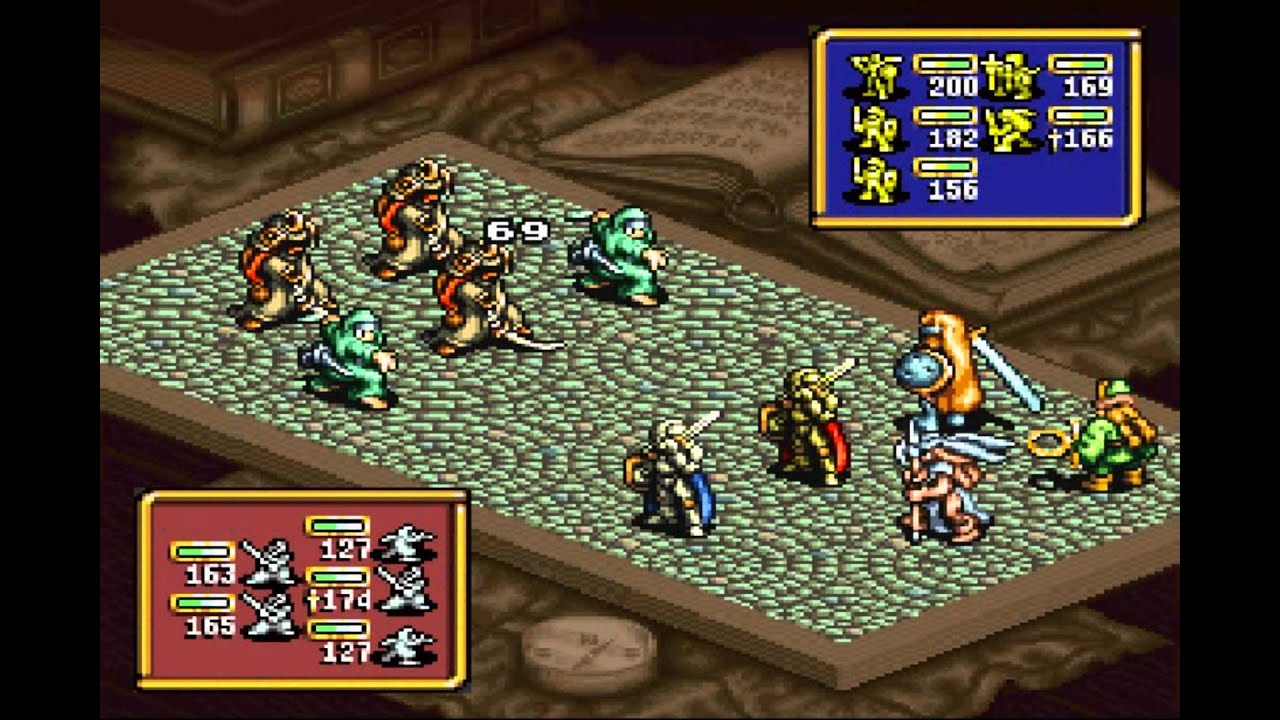 Ogre Battle - The March of the Black Queen - Tundra(SNES) - Vizzed com  GamePlay