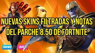 NEW FILTRATED SKINS AND NOTES OF FORTNITE 8.50 PARCHE