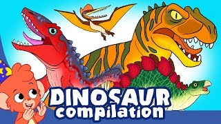 Learn Dinosaurs for Kids | Scary Dinosaur movie Compilation | t-rex Stegosaurus | Club Baboo