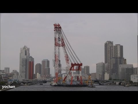 Large Crane ship: FUJI (Fukada Salvage & Marine Works)  超大型クレーン船「富士」深田サルベージ建設(東京港)