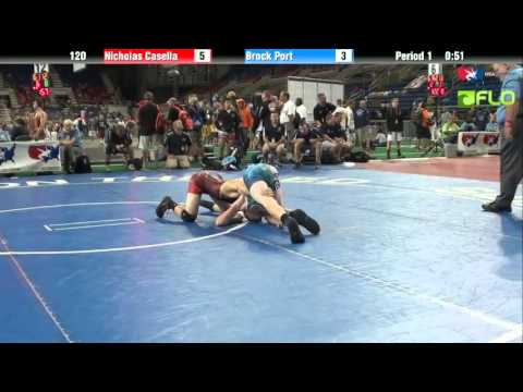 Cadet 120 - Nicholas Casella (New York) vs. Brock Port (Pennsylvania)
