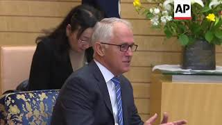 Turnbull and Abe attend Japan National Security Council meeting