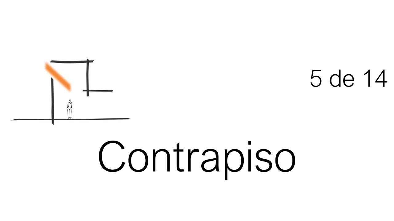 Construcci n paso a paso contrapiso tutorial 5 de 14 for Construccion de un vivero paso a paso