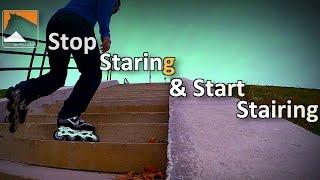 Inline Skating Up Stairs Tutorial   Stop Staring & Start Stairing