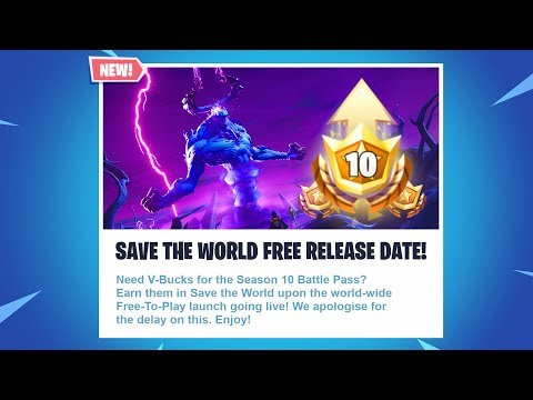 SAVE THE WORLD IS FREE IN SEASON 10! NEW FORTNITE STW FREE RELEASE DATE! (FORTNITE SEASON 10 UPDATE)