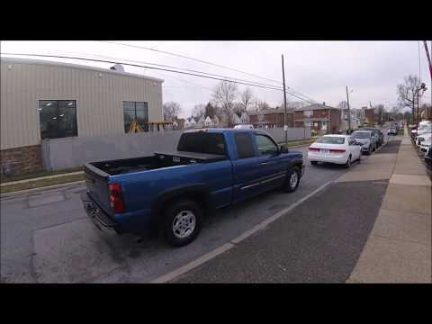 2003 Blue /Gray Chevrolet Silverado 1500 Ext. Cab Long Bed 2WD (2GCEC19VX31) with an 4.8L V8 OHV 16V engine, 4-Speed Automatic Overdrive transmission, located at 577 Chester Pike, Prospect Park, PA, 19076, (610) 237-1015, 39.886154, -75.302338 - Photo #0