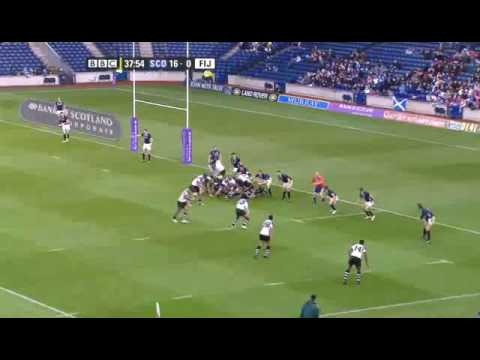 Scotland vs Fiji - November 2009 - Rugbydump