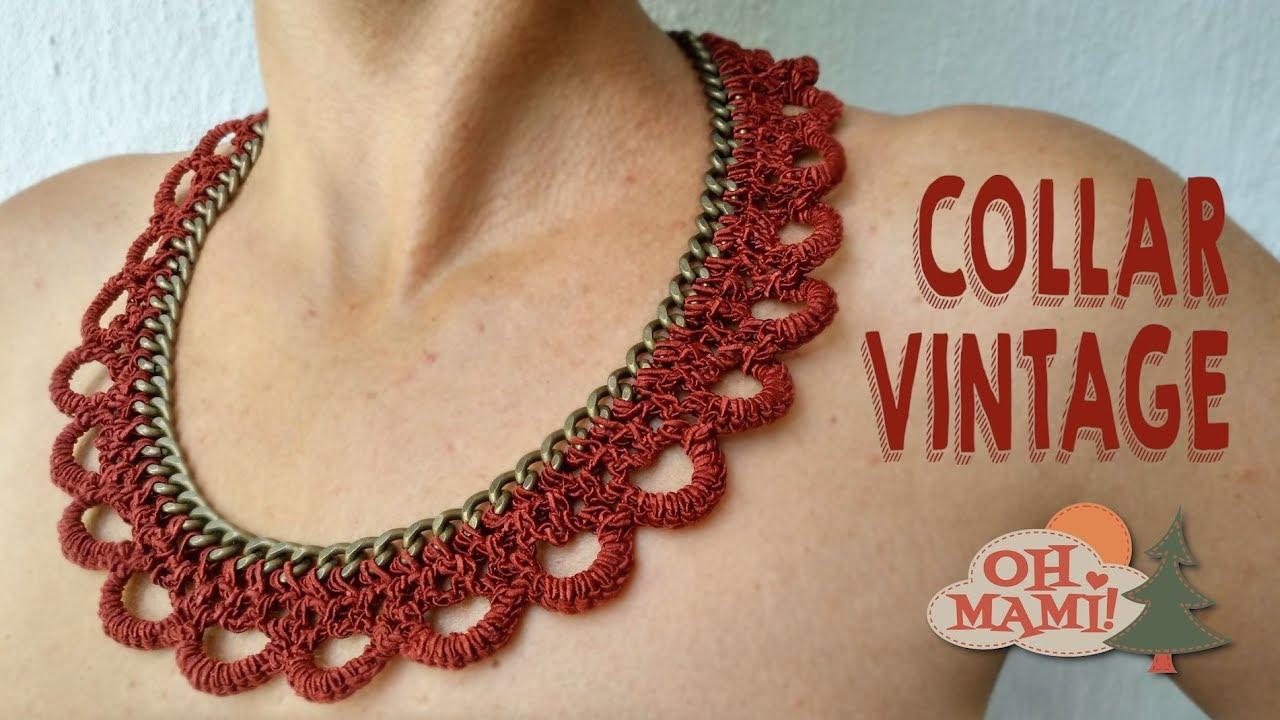 llegando tienda del reino unido comprar baratas Collar Vintage con cadena a crochet