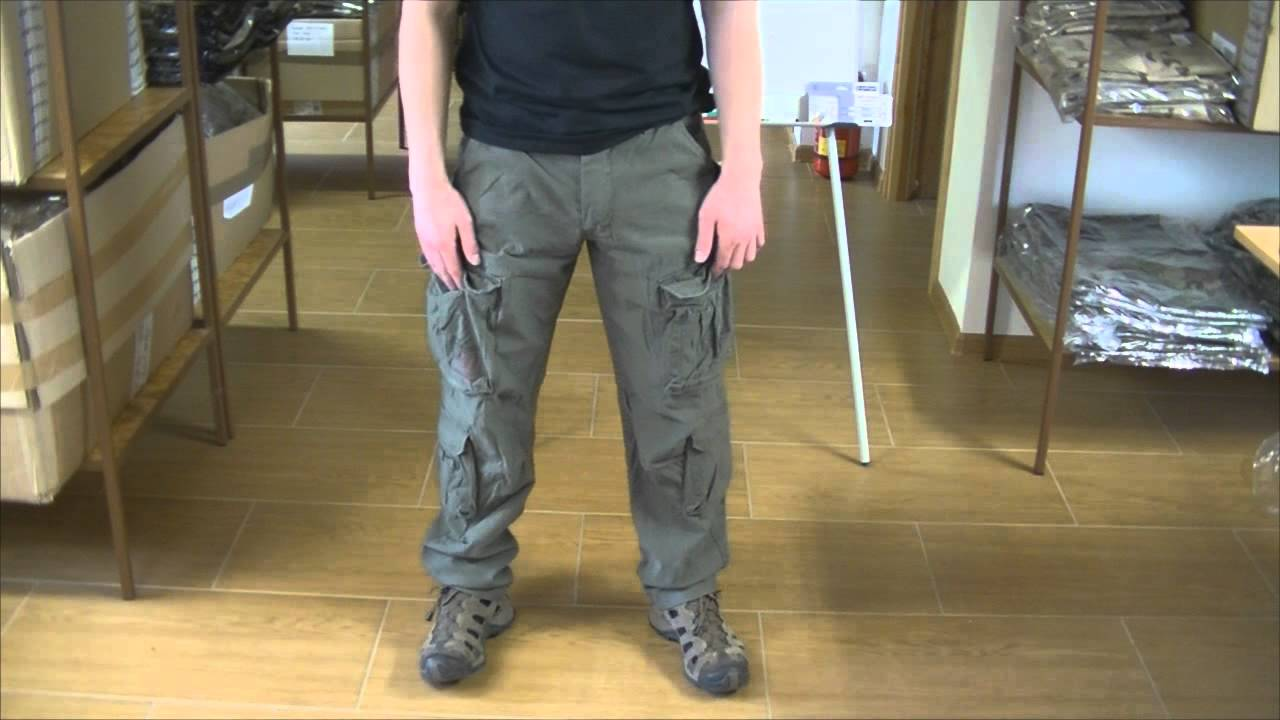 Nohavice Airborne Slim Surplus - YouTube 411d35c9b49b3