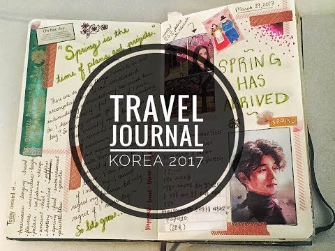 Korea Travel Journal Flip Through 2017