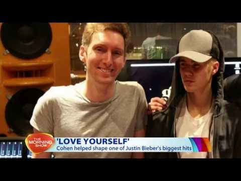 Simon Cohen works on Justin Bieber's #1 hit Love Yourself