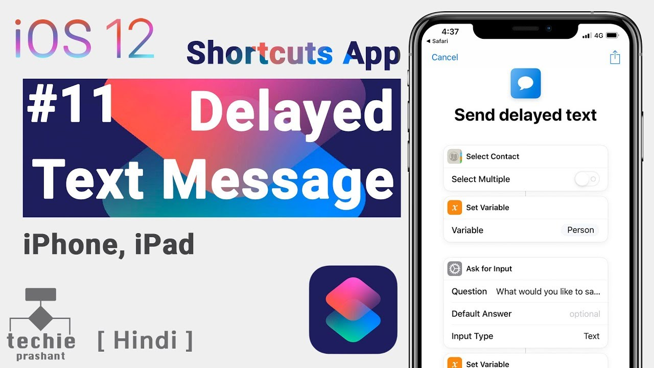 How to Schedule Sending Text Messages from iPhone