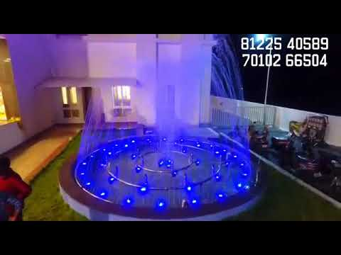 Water Fountain Convention Center Wedding Marriage Function Hall Outdoor Decor India +91 81225 40589