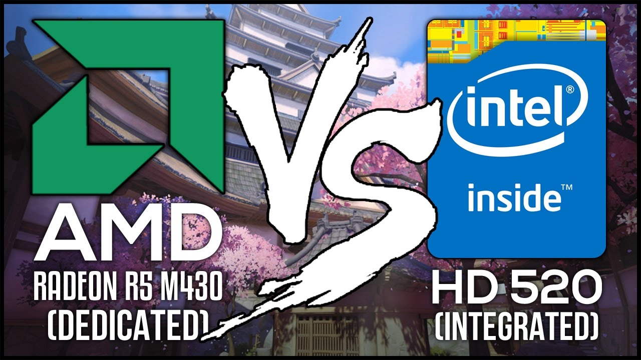Intel HD 520 VS AMD Radeon R5 M430 - Integrated VS Dedicated Laptop GPU!