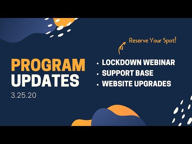 Liftoff Updates 3.25 🌼 Lockdown Webinar on Fri, Support Base & Website Upgrades