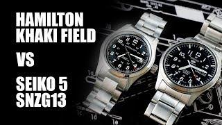 Hamilton Khaki Field Vs Seiko 5 SNZG13 - Classic Field Watch Comparison