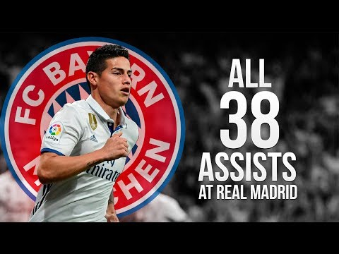 James Rodriguez - Welcome to Bayern Munich 2017   All 38 Assists at Real Madrid ᴴᴰ