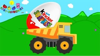 Surprise Egg and Dump Truck for Children | Dinosaurs for Children