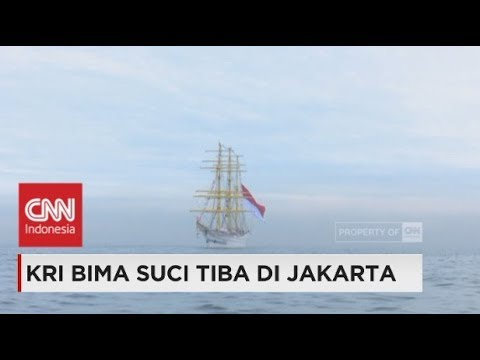 KRI Bima Suci Tiba di Jakarta