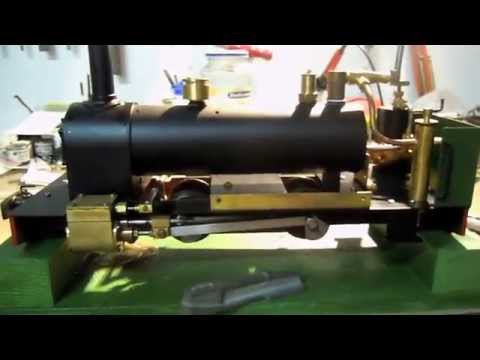 Homemade Dacre 16mm live steam loco bench test