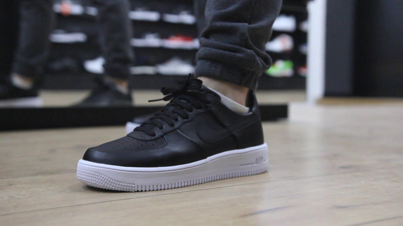 "Nike Air Force Flyknit Onfeet Nike Air Force 1 Ultra Force ""black\white"" (845052"