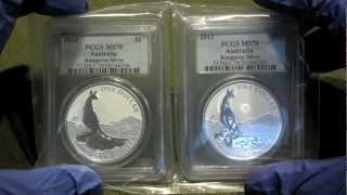 My First Silver MS 70 coins - 2013 Australian Kangaroo - 2 graded ounces to add!