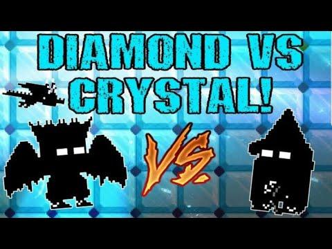 Growtopia - Diamond Vs Crystal Set Challenge! Ft. TheGangstar