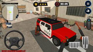 Police Car Wash Service: Gas Station Parking Games - Service Paint Mission Android Gameplay FHD