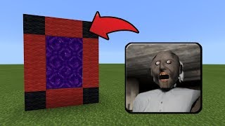 How To Make a Portal to the Granny Horror Dimension in MCPE (Minecraft PE)