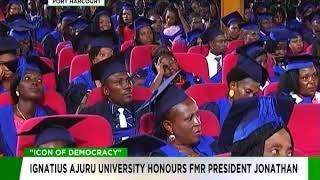 Ex-President Goodluck Jonathan receives 'Icon of Democracy' Award