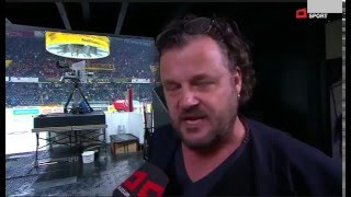 Büne Huber , Plädoyer für das Eishockey