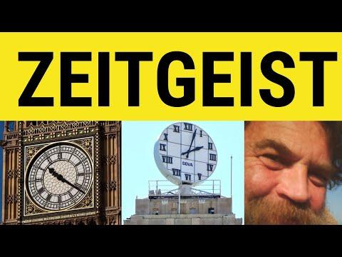 Zeitgeist - German In English - ESL British English Pronunciation