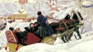 Картина 'Масленица', Борис Михайлович Кустодиев