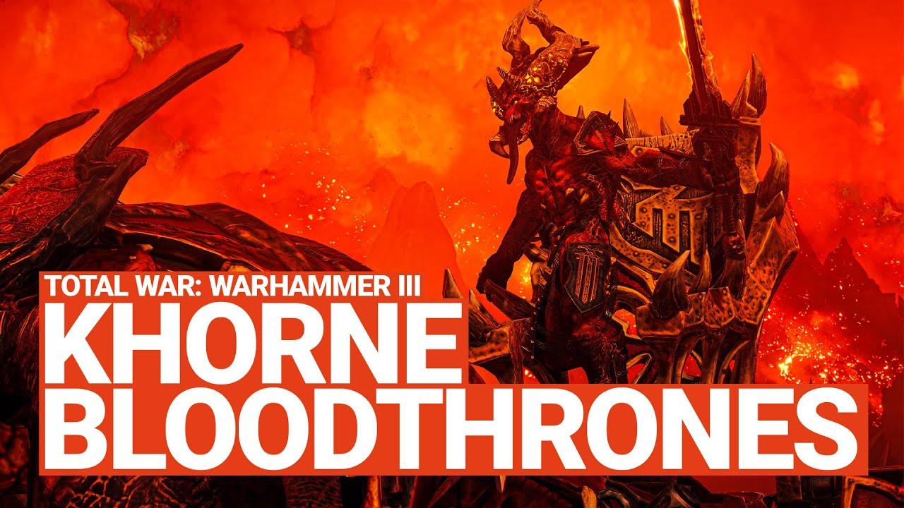 Khorne Blood Thrones Unit Spotlight | Total War: WARHAMMER III