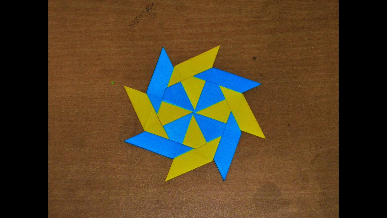 How To Make a Paper Transforming Ninja Star / Origami ... - photo#41