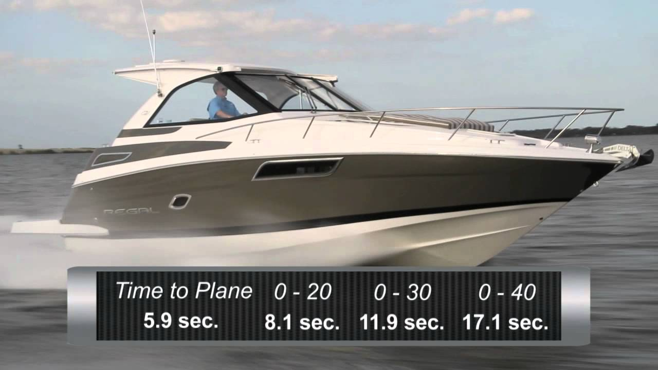 Glasregal 40 X 20 Regal 35 Sc Sport Coupe Express Cruiser 2011 Performance Test By Boattest