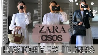 HOW TO STYLE A WHITE DRESS ♡ ZARA ASOS TRY ON HAUL