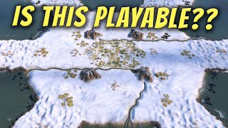 I Played a Full Snow Map on Deity in Civilization 6