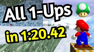 SM64 | All 1-Ups in Cool Cool Mountain - 1:20.42 [TAS]