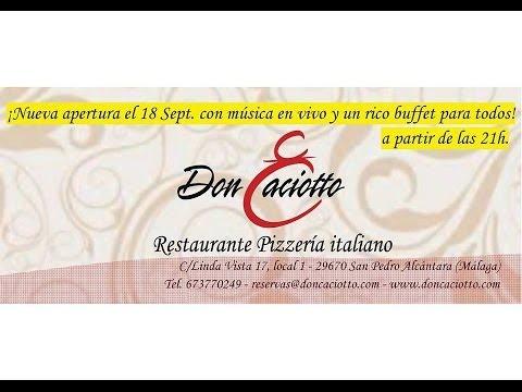 Don Caciotto Restaurante Italiano Pizzeria San Pedro Alcántara