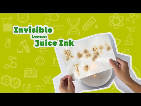 How to Keep Invisible Message? (Insivible Lemon Juice Ink)