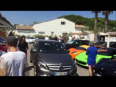 Summer 2015 - Exotic Cars in Nikki Beach St Tropez in One day!!!!