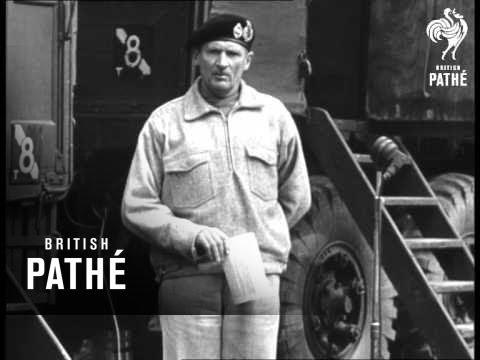 Monty Speech & German Surrender (1945)