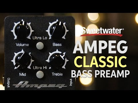 Ampeg Classic Analog Bass Preamp Pedal Demo