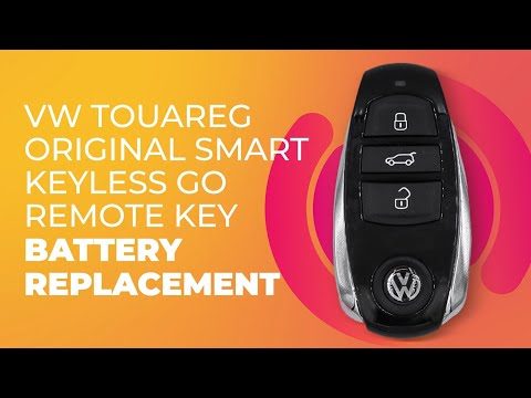 VW Touareg Original Smart Keyless Go Remote Key Battery Replacement