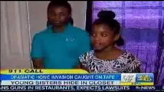 911 Call   Dramatic Home Invasion Caught on Tape   Two Young Sisters Hide in Closet